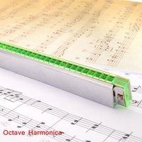Wholesale Octave Harmonica Mouth Organ Holes Free Reed Wind Instrument with Case Music Instrument Retail