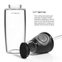 Wholesale 500ml Glass Oil And Vinegar Dispenser Measurable Pressing Button Olive Oil Bottles Kitchen Tools