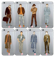 For Samsung apple scarf - Fashion Man Male Models Pattern Soft TPU Silicone Case For Galaxy S7 Edge S6 Edge Plus iphone S Plus S SE New scarf Skin Cover