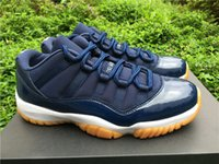 Wholesale Varsity Red Retro shoes Low Navy XI mens Sports Basketball shoes men s NEW