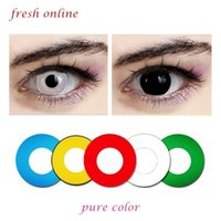 Wholesale Hot Sale Contact Lenses Super Color Stylish Pure Color Contact Lenses Crazy Lenses For Cosplay