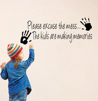 Wholesale Wallsticker Art Mural Please Excuse The Mess Palms Vinyl Wall Decal Quote Sticker Kids Room Decoration