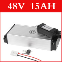 Wholesale 48V AH lithium battery Aluminum housing rear rack V lithium ion battery charger BMS electric bike pack Free customs duty