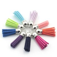 Wholesale 100pcs Mix Color Leather Suede Tassel Charm Necklace Earring Findings Tassels For Jewelry accessories