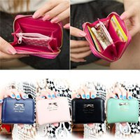 Wholesale New Women Leather Small Wallet Card Holder Zip Coin Short Purse Clutch Handbag