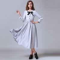 ancient silk - 2016 Spring Women s Clothes New Complex Of Ancient Bud Silk Casual Dress Slim Put On A Large Long Lace Dress