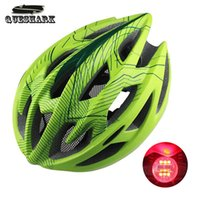Wholesale Ultralight Cycling Helmet MTB Mountain Road Integrally molded Air Vents Bike Helmet With Bicycle Taillights Night Riding Safety