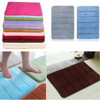 Wholesale Top Selling x60cm Bath Mat Bathroom Bedroom Non slip Mats Memory Foam Rug Shower Carpet for Bathroom Kitchen