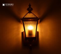 Wholesale Tantop New Copper Vintage outdoor lighting LED lights Wall lights LED lamp for the Ailse Balcony TT2017041