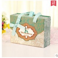 Wholesale Creative Chinese style Candy box carton marriage wedding supplies Candy Boxes Finished gift back Drawer Box S
