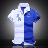 air force logos - 2015 Summer horse logo brand mens solid polo eronautica militare Air Force One shirt men brand bomber Short sleeve Polo shirts