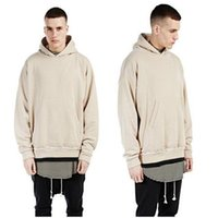 fashion clothes for men - Hoodies Sweatshirts for Men Hoodies Long sleeve Hip Hop Streetwear solid hooded fashion OVERSIZE Sportswear Kanye West Clothing Plus size