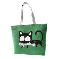 american apparel bags - Vosicar New Trend American Apparel Cat fish Printed Shoulder Bag Canvas Messenger Shopping Bags
