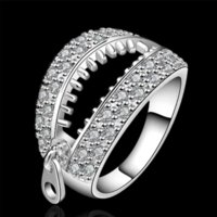band edit - hristmas Gift Silver Ring Sterling Silver Jewelry lasuo holow Ring SMTR585 Cheap jewelry editing High Quality jewelry tra