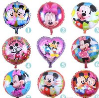 baby shower prints - 2016 new inch mickey minnie mouse print foil helium ballon baby shower birthday christmas party decoration balloon child kids toy