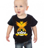 baby tees - New baby boys Pocket Monster poke T shirt short sleeve Pikachu Tees cotton PokéMon Go kids tops styles C1140