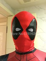 Wholesale Avengers Deadpool for Women Men Kids Classic Halloween Head Hood Costume Fetish Unisex Deadpool Superhero Zentai Suits