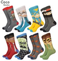 ax men - Cool RUGGED AX Men Novelty Socks Combed Cotton Colorful Happy Sock Mens Cartoon Socks w