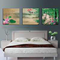 bamboo painting feng shui - Modern Contemporary Feng Shui Wall Art Bamboo Landscape Painting Hd Print On Canvas Set30260