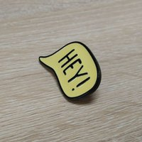 background party gift - shiny black yellow background hey pin badge made of zinc alloy material
