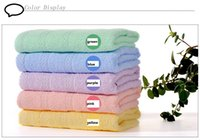 Wholesale 100 cotton terry solid color muti color available for baby child audit x70cm face towel