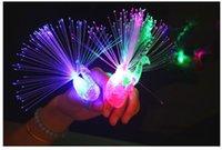 Wholesale Luminous Light Colofrul Light Up Peacock Finger Light LED Lamp Toy Kids Novelty Toys LED Toys LED Ring freeshipping