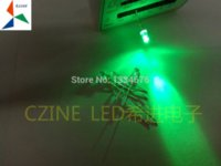Wholesale mm Green LED in diodes transparent water clear for indicator light ultra brightness short feet