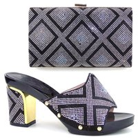 bag blocks - Block high quality africa shoes match with bags beautiful Italian shoes and bag set for party dress TH16