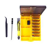 Wholesale 45in1 Hand tools High multi tool Torx Precision Screw Driver Cell Phone Repair Tool Set Tweezers Mobile Kit tool sets for iphone