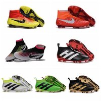 Wholesale Kids Magista Obra FG Mens Soccer Boots Cleats ACC High Ankle Top Football Soccer Shoes ACE Cleats PureControl Cheap Football Boots New