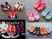 baby girl flower shoes - Mini Melissa Shoes Summer girls Sandals Clogs Cute Girls shoes Children Mitch Baby Shoes For Girl shoes size EU24 mini melissa