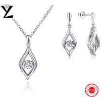 arrival dance - New Arrival Sterling Silver Making Dancing Simulated Diamond Necklace Earrings Dance Jewelry Sets for Women Jewelry DP63320A