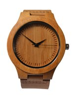 bamboo belt - Mooseng Men s Bamboo Wooden Watch With Genuine Leather Strap Japanese Quartz Movement Casual Wood Watches Accept OEM