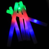 atmosphere change - 1606 multicolor changing slowly led foam stick for party glow stick shaking up making the lively atmosphere freeshipping