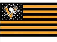 banner grommet - Pittsburgh Penguins star and stripe flag ftx5ft NHL Banner D Polyester Flag metal Grommets