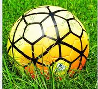 Wholesale Top quality European league match football European Cup soccer ball PU granules anti slip balls