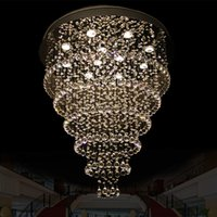 Wholesale Modern Round Crystal LED Chandelier Restaurant Living Room Light Crystal Lamp Bedroom Creative Office Hotel Lighting