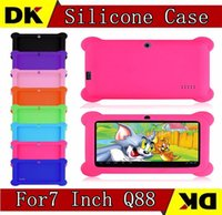 Wholesale 200pcs Anti Dust Kids Child Soft Silicone Rubber Gel Case Cover For Q88 quot Inch Android Tablet PC