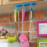 Wholesale Home Kitchen Racks Cabinets Bracket Desk Celling Hook Mount Hanging Holder kg Load Kitchen Cupboard Storage Rack Tool Colors