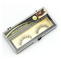 Wholesale Premium Quality False Eyelashes Handmade Natural Long Thick Mink Fur Eyelashes Soft Fake Eye Lash pair Black Terrier Full Strip Lashes
