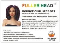 Wholesale FULLER HEAD BOUNCE CURL SET Short quot Bob Curly Twist Jumpy Wand Crochet Braids Braiding Hair Premium Synthetic Fiber for Black Women
