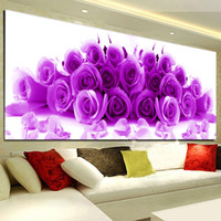 Wholesale The New D DIY Rose Diamond Picture Bedroom Small Stick Diamond Cross Stitch Flower Series Full Diamond Cross Stitch