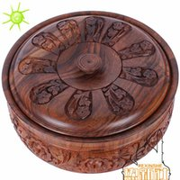 Wholesale Pakistan pure hand carved Antique Walnut candy box fruit box of classical new year candy store