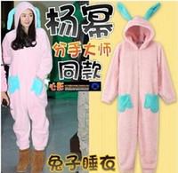 adult fleece footed pajamas - Blasting paragraph Fleece Women Men Ladies Adult Unisex Footed Onesie Rabbit Pajamas Hooded Jumpsuits Romper Sleepwear cosplay