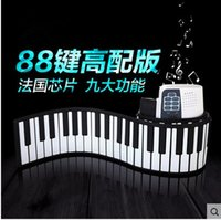 Wholesale Hand roll piano key thickening orgatron midi keyboard portable folding electric piano