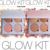 Wholesale 2016 Branded ABH Glow Kit Makeup Face Blush Powder Blusher Palette Cosmetic Blushes Shades Gleam That Glow Sun Dipped