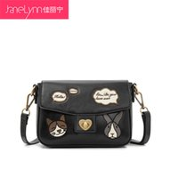 animal graphs - 2015 Real Shoulder Bags Bags Jia Lining Winter New Vintage British Leather Crossbody Bag Small Animal Graph Postman