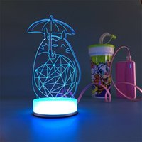 bedside lamp small - 3D small desk lamp USB Bluetooth Chinchilla art Colorful DIY LED night light bedside lamp creative gifts married led table lamp
