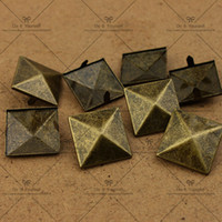 Wholesale 2016 NEW More Size The Bronze Pyramid Studs Rivet Spot Nickel Punk Bag Belt Leathercraft DIY Rivet FB Big