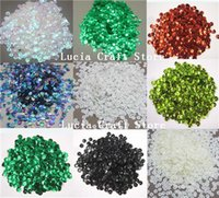 Precio de Escama de lentejuelas-10g / porción (aprox) 1000pcs opciones multi de los colores del arco iris de 6 mm de la escama de la Copa de lentejuelas Decoración Confetti 24010006 (6D10g)